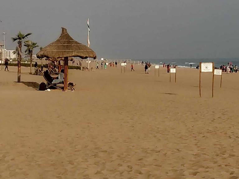 Shade at puri blue flag beach