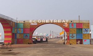 Entry gate of Eco retreat Odisha 2019