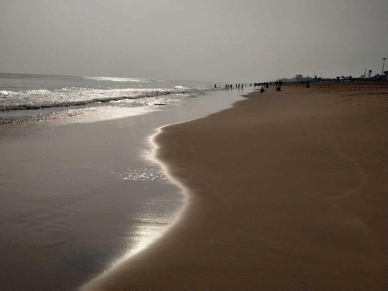 Waves at Puri golden beach