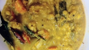 Lentil cooked together with different vegetables and famous as Dalma