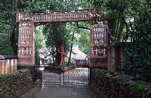 Entry gate of Koraput tribal museum decorated with Tribal art