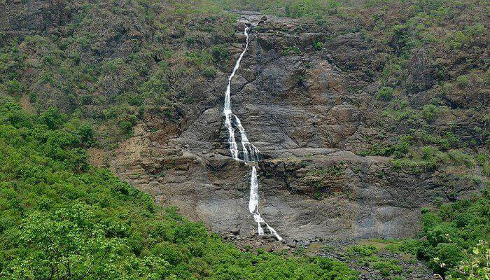 Budhabalanga River falling from mountain top creating one of the best waterfalls in Odisha