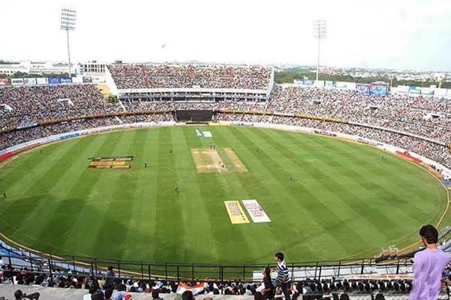 Cricket match happening atBarabati stadium - A magnificent stadium in Cuttack is one of the top tourist places in Cuttack