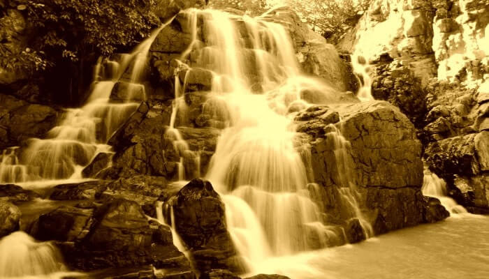 Waterfalling from a height of 60 ft creating one of the top water falls of Odisha, the Badaghagara waterfalls