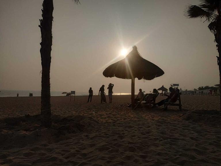 sunset at puri blue flag beach