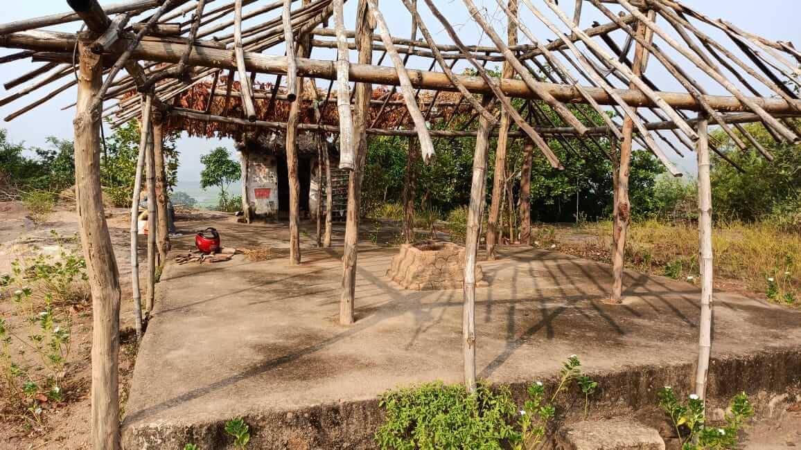 Rameswar Temple made of Mud and Bamboos