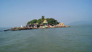 Kalijai Temple an island temple in the Chilika lake is one of the best places to visit near Puri