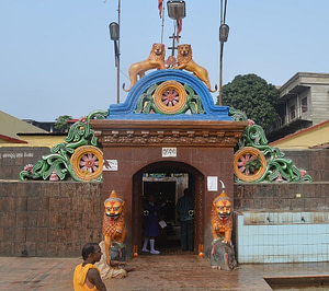 Entry gate of Cuttack Chandi Temple one of the most famous tourist places in Cuttack
