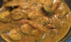 Prawn cooked in Coconut milk gravy is a popular dish of Odia Cusisine