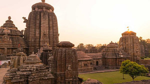 Top view of the iconic Lingaraj Temple Bhubaneswar which is one of the most popular tourist places in Bhubaneswar