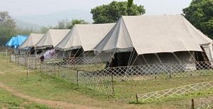 Comfortable tents at Satkosia one of the most popular nature camps in Odisha